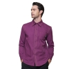 men long sleeve purple shirt